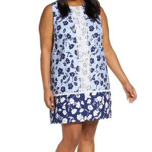 NWT ELIZA J DAY FLORAL  DRESS EMBROIDERY NEW SMALL